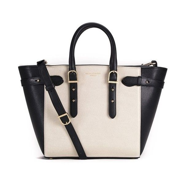 Ious Leather Tote Bag With Interchangeable Black Aqua And Neon Pink Top Handles From S