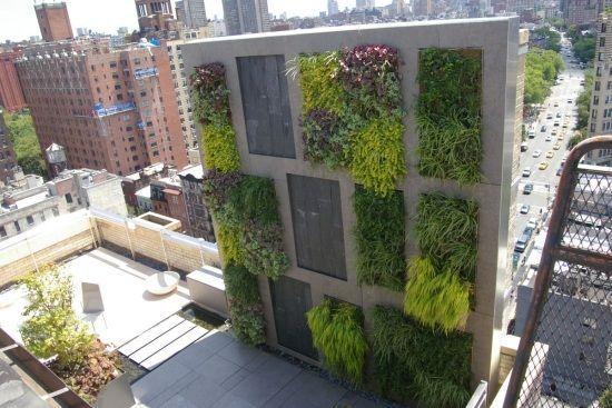 balkon sichtschutz-windschutz ideen-vertikaler garten garten