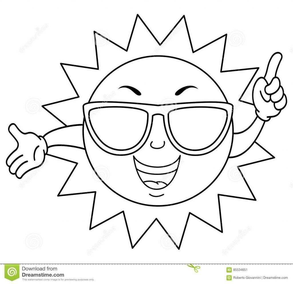 Sol Con Gafas Para Colorear Coloring Pages Sun Coloring Pages