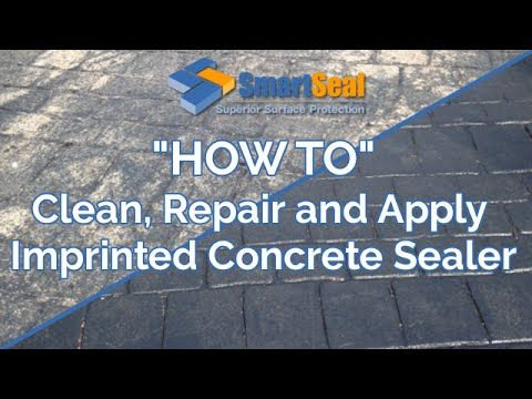 How To Clean Repair Re Colour And Apply Sealer To Patterned Imprinted With Images Stamped Concrete Walkway