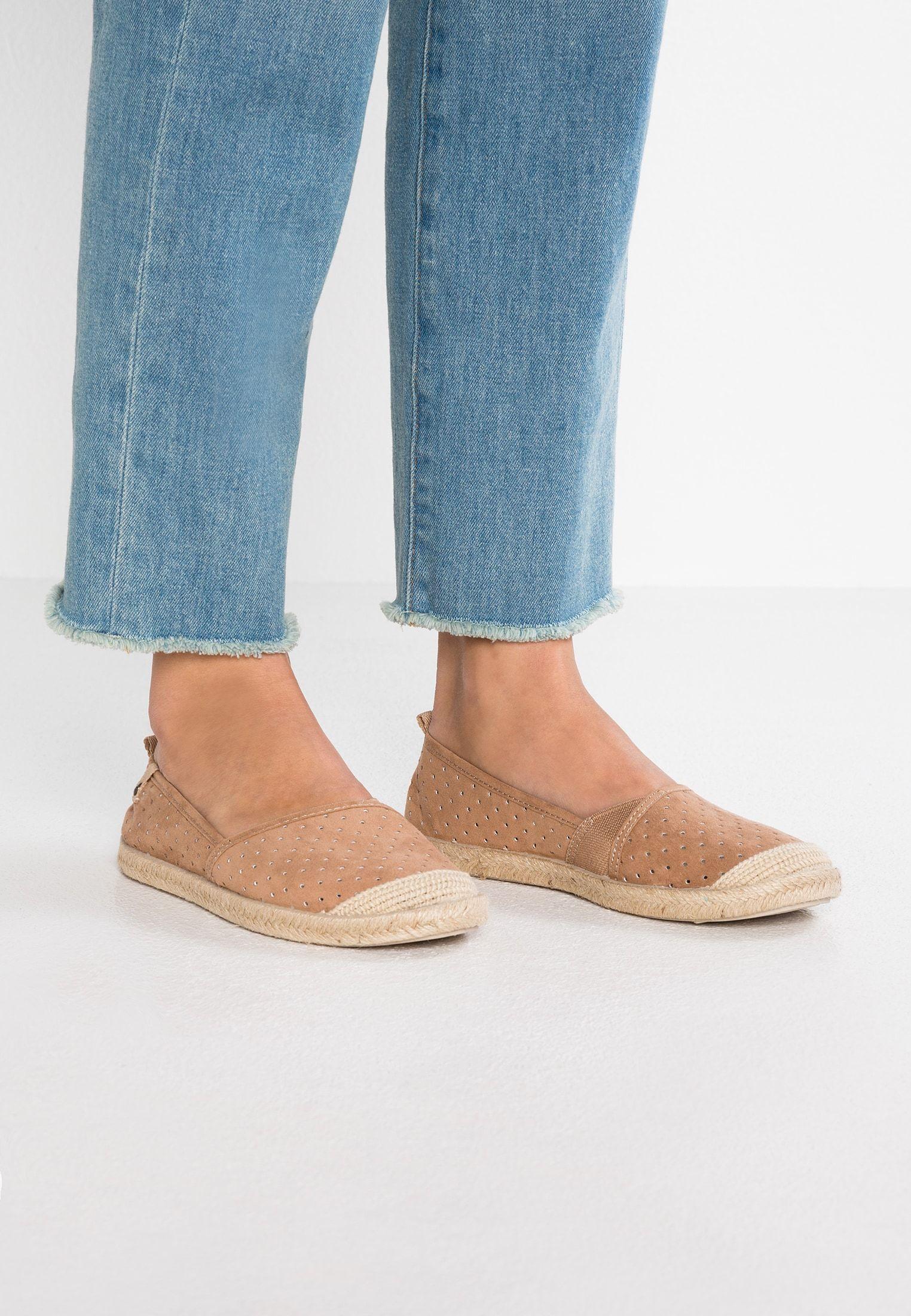 Roxy Florall Espadryle Brown Zalando Pl Espadrilles Shoes Flat Espadrille
