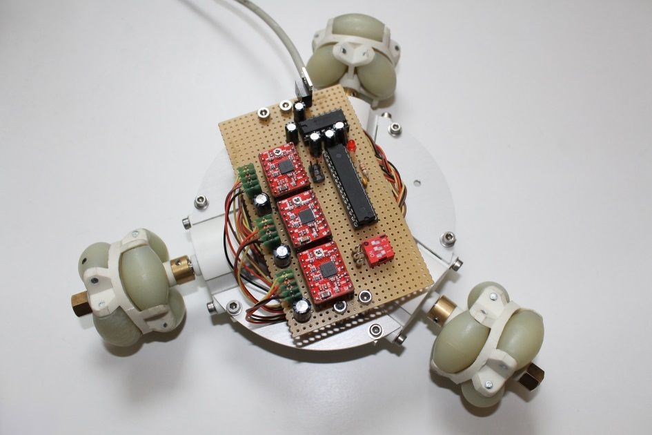 Omni Wheel Mobile Platform Make Robot Building Electronic