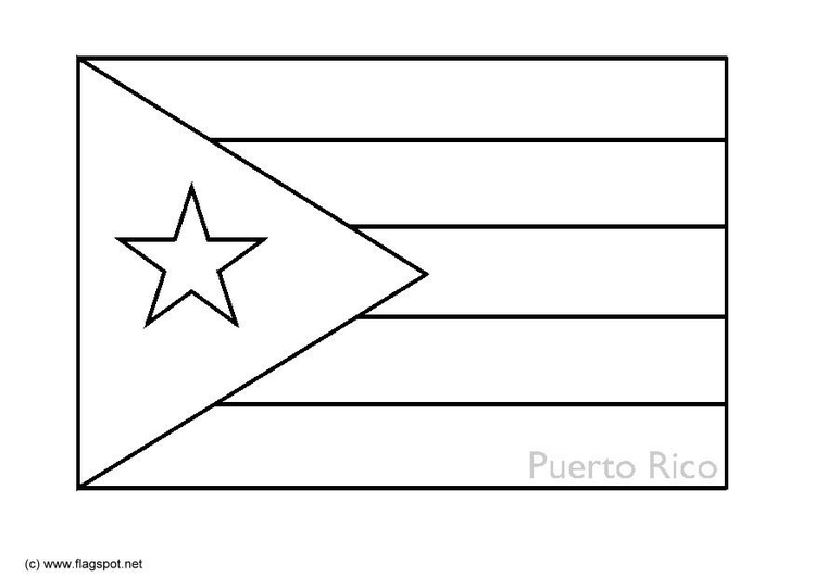 Coloring Page Flag Puerto Rico Img 6340 Images Flag Coloring Pages Puerto Rican Flag Puerto Rico Flag