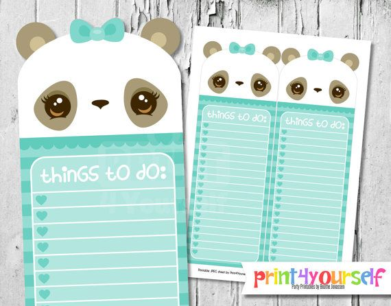 to do list printable cute