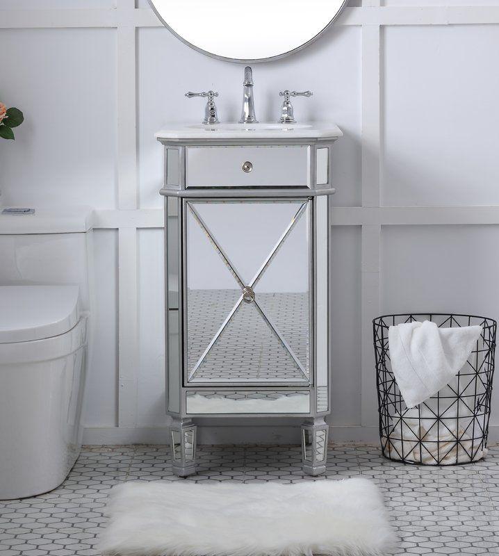 Jiya 19 Single Bathroom Vanity Set Bathroom In Backyard