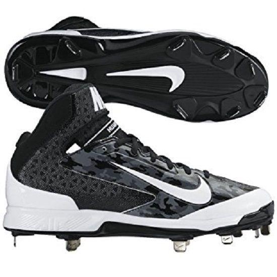 New Nike Men\u0027s Huarache Camo Pro Mid Metal Baseball Cleats Size 11