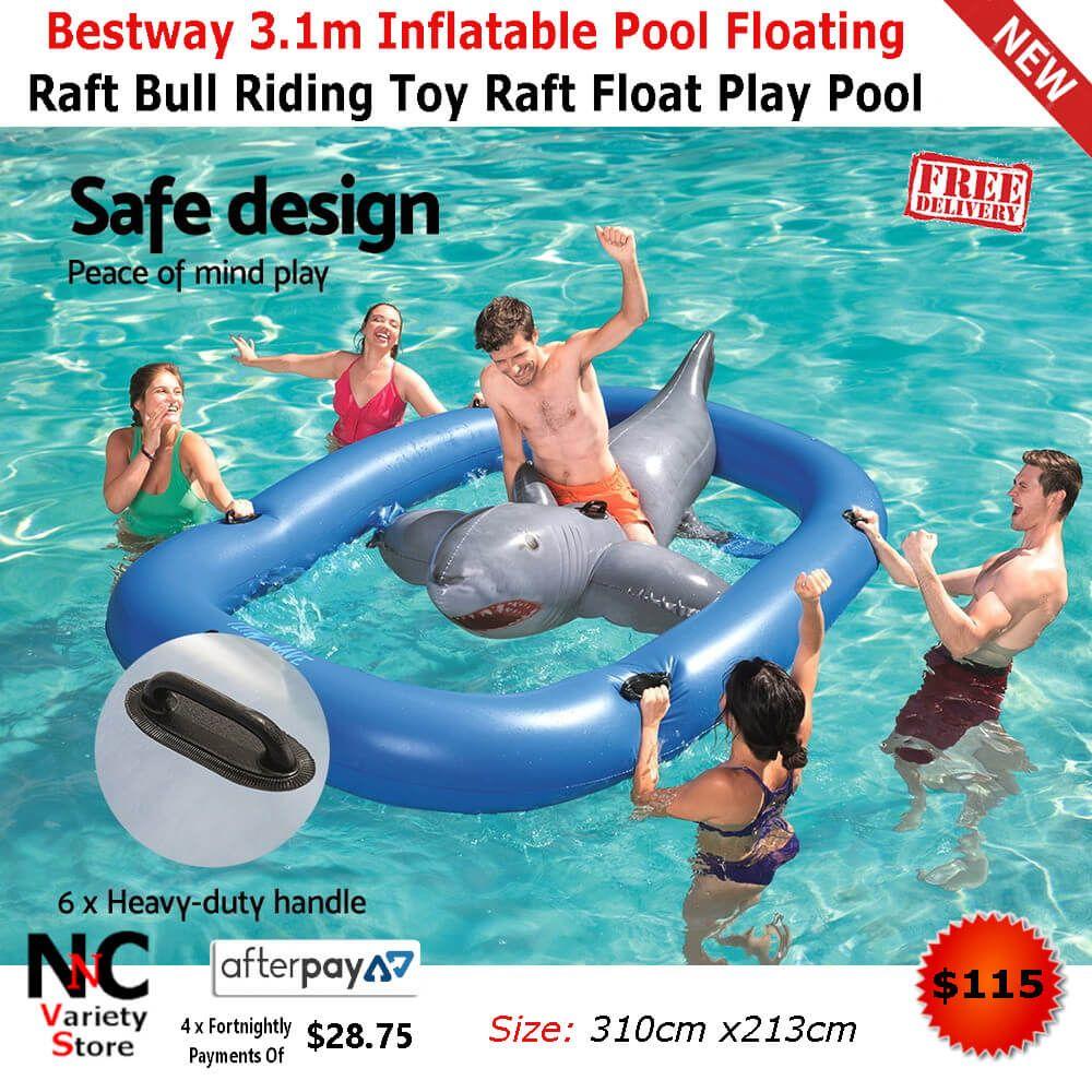 Bestway 3 1m Inflatable Pool Floating Raft Bull Riding Toy Raft Float Play Pool Inflatable Pool Floating Raft Ride On Toys