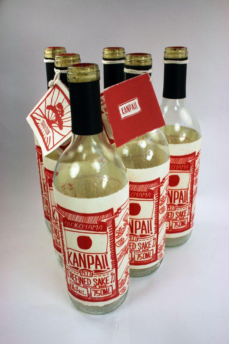 Otokoyama Sake By Herman Chaneco Packaging Beverage Spirits With Images Sake Food Packaging Design Packaging