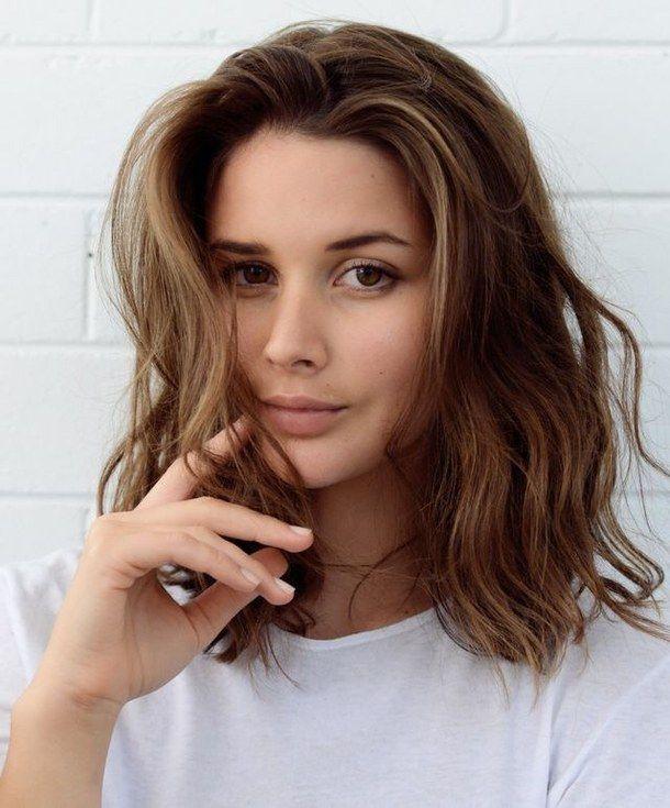 Beauty Brown Cute Hair Hair Color Soft Summer Warm Waves Hair Cut In 2019 Medium Hair Styles Hair Lengths Hair Cuts