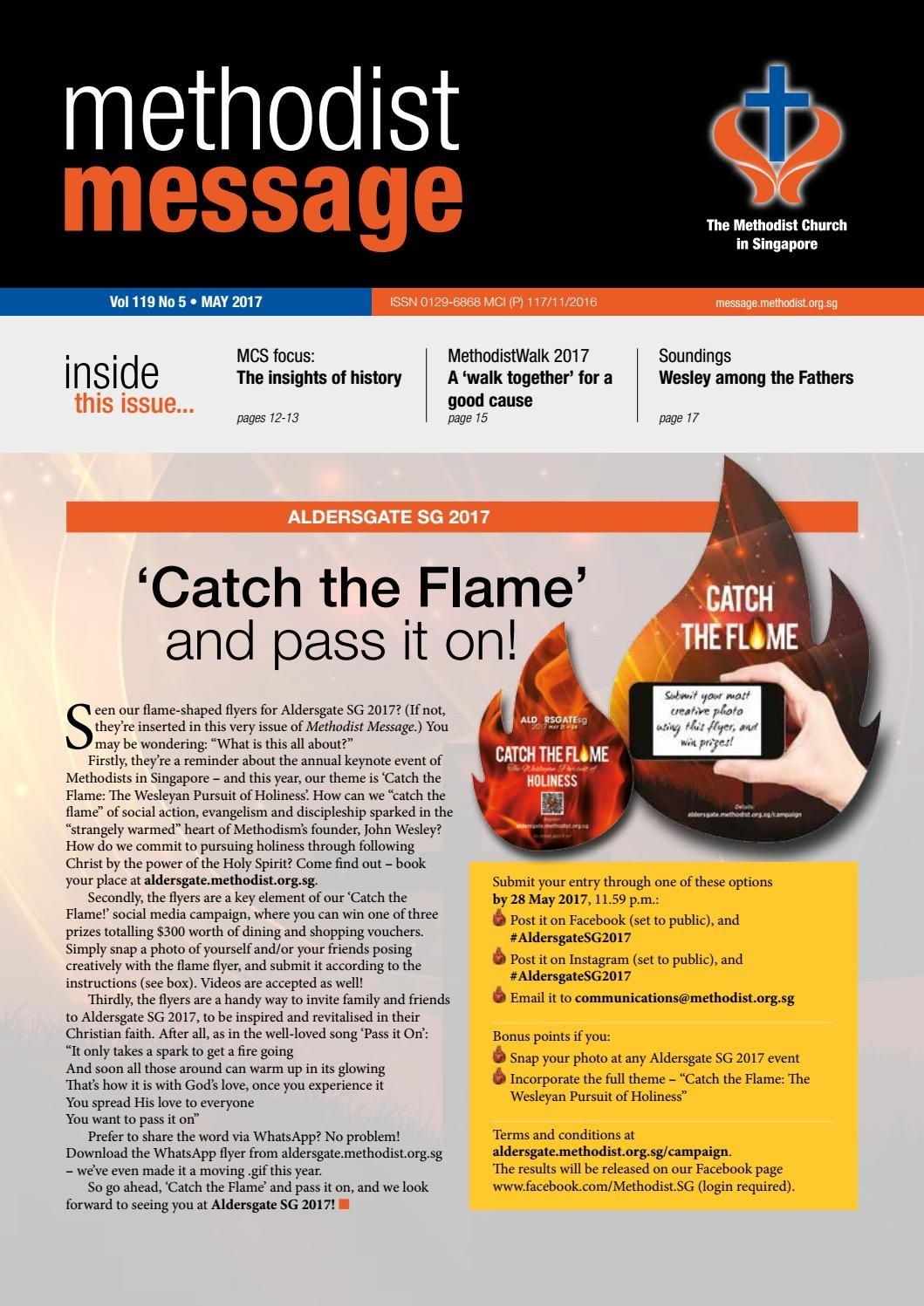 Methodist Message May 2017 Issue Messages, Singapore