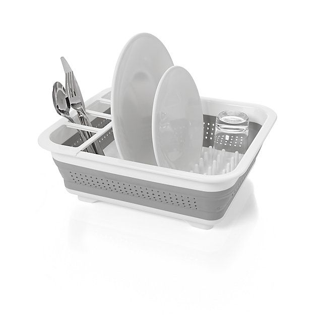 Madesmart Collapsible Dish Rack Crate And Barrel Dish Racks