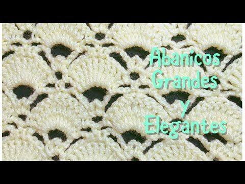 60) Puntada de abanicos grandes y elegantes en gancho #67 - YouTube ...