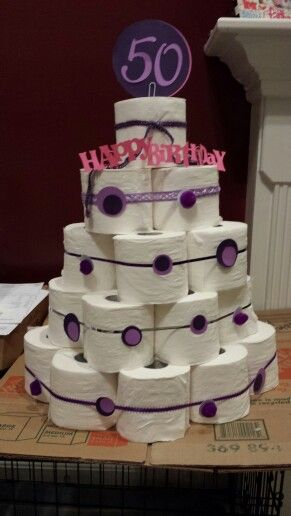 50th Birthday Toilet Paper Cake I Made This Toilet