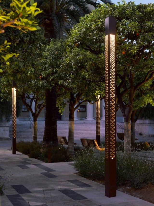 Technilum Treille Column освещение Pinterest Diseño de