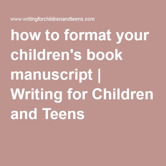 How To Format Your Children S Book Manuscript Writing For Children