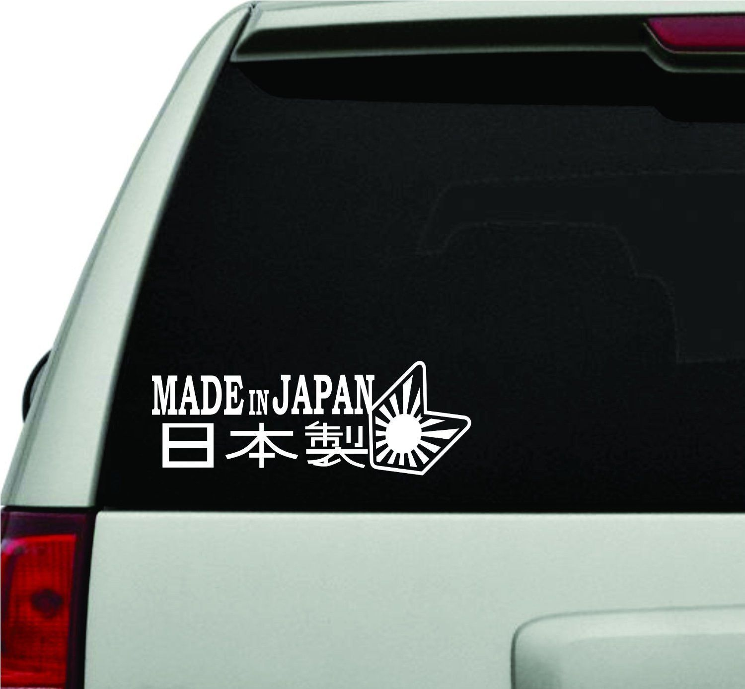Made in japan version 101 jdm car truck window windshield lettering decal sticker