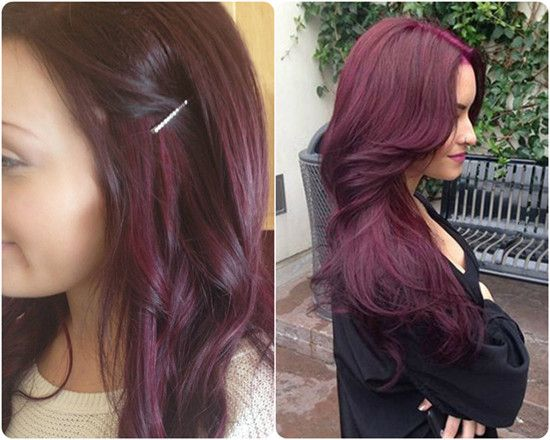 2014 Winter2015 Hairstyles and Hair Color Trends Purple black