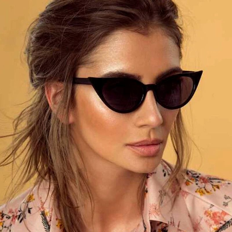 Brand fashion designer sunglasses woman Retro cat eye