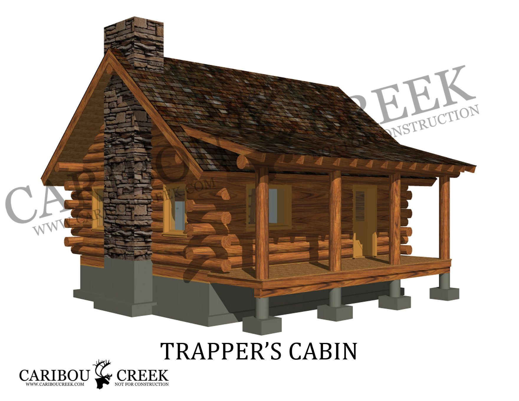 Tiny Log Home Designs: Trappers Cabin - Google Search