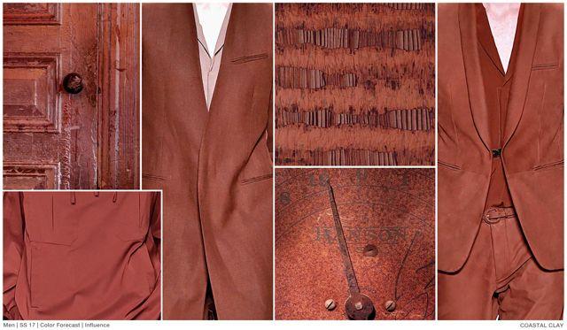 Top Color, Menswear Market, SS 2017, Coastal Clay, # ...