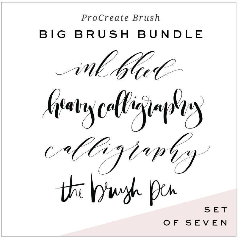 Calligraphy brushes for procreate app ipad fonts and
