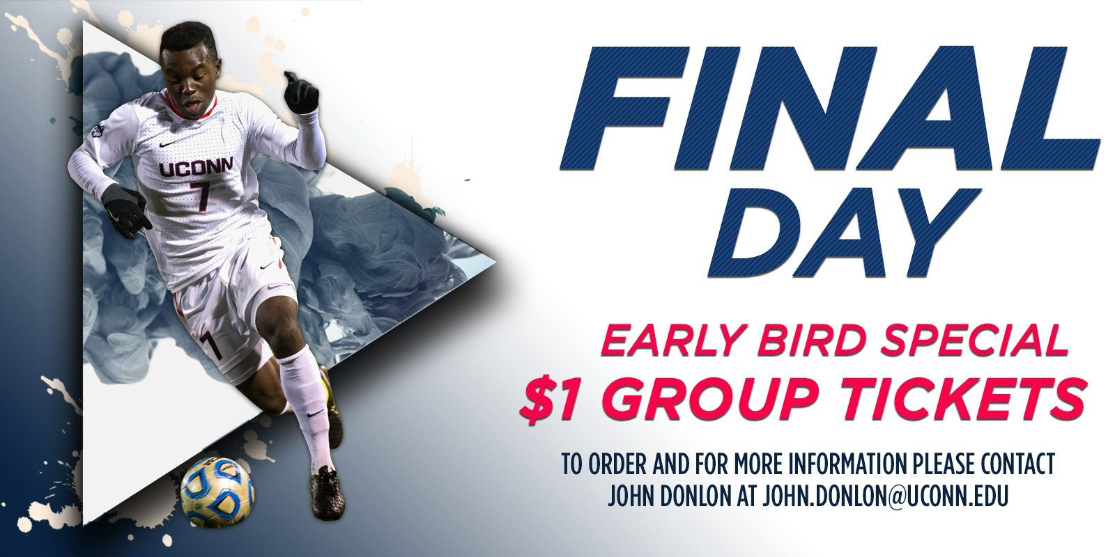"UConn Men's Soccer on Twitter: ""Today is the final day to grab your early-bird #UConn group tickets for the fall! #BleedBlue https://t.co/YdfTvACfPz"""