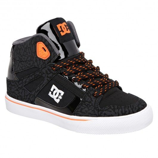 c1d8a3052c467 DC Shoes Spartan High SE KIDS black orange BO1 skate shoes montantes pour  enfants 65