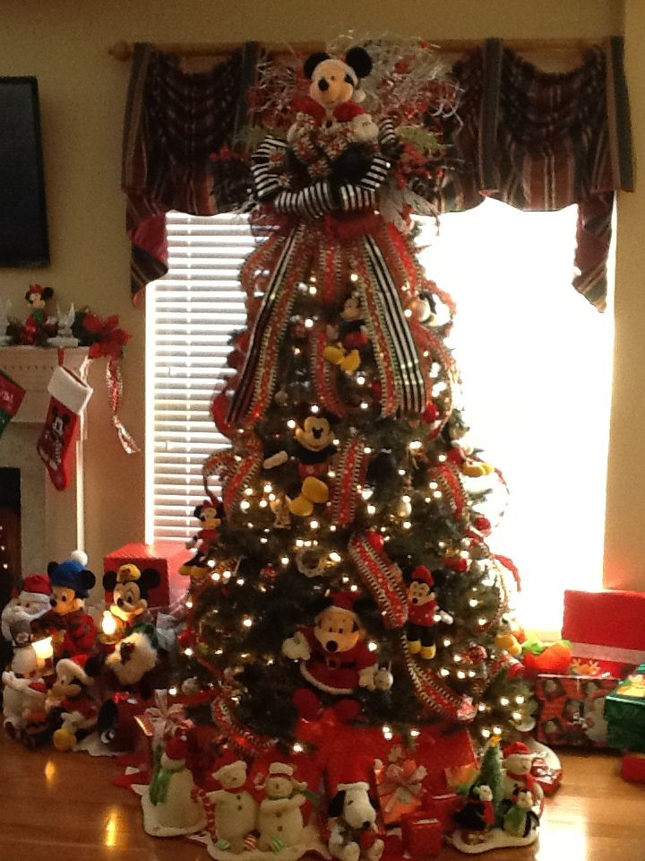 mickey mouse tree mickey mouse christmas tree cute christmas tree christmas wreaths disney - Mickey Mouse Christmas Tree Topper