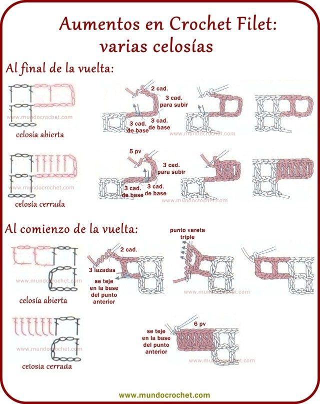 Como tejer crochet filet paso a paso | CROCHET | Pinterest | Como ...