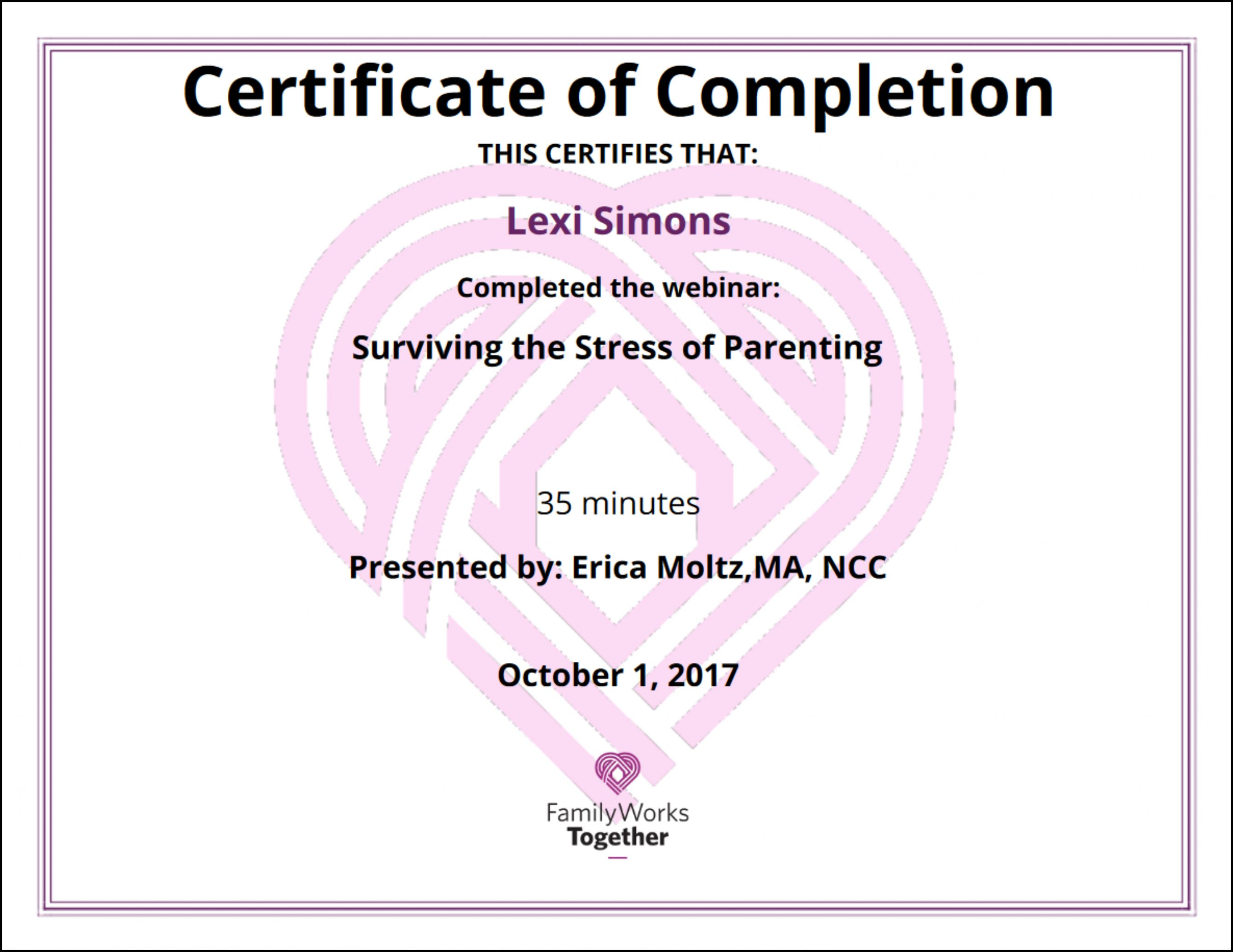 Get Our Free Parenting Class Certificate Of Completion Template Certificate Of Completion Template Certificate Of Completion Parenting Classes