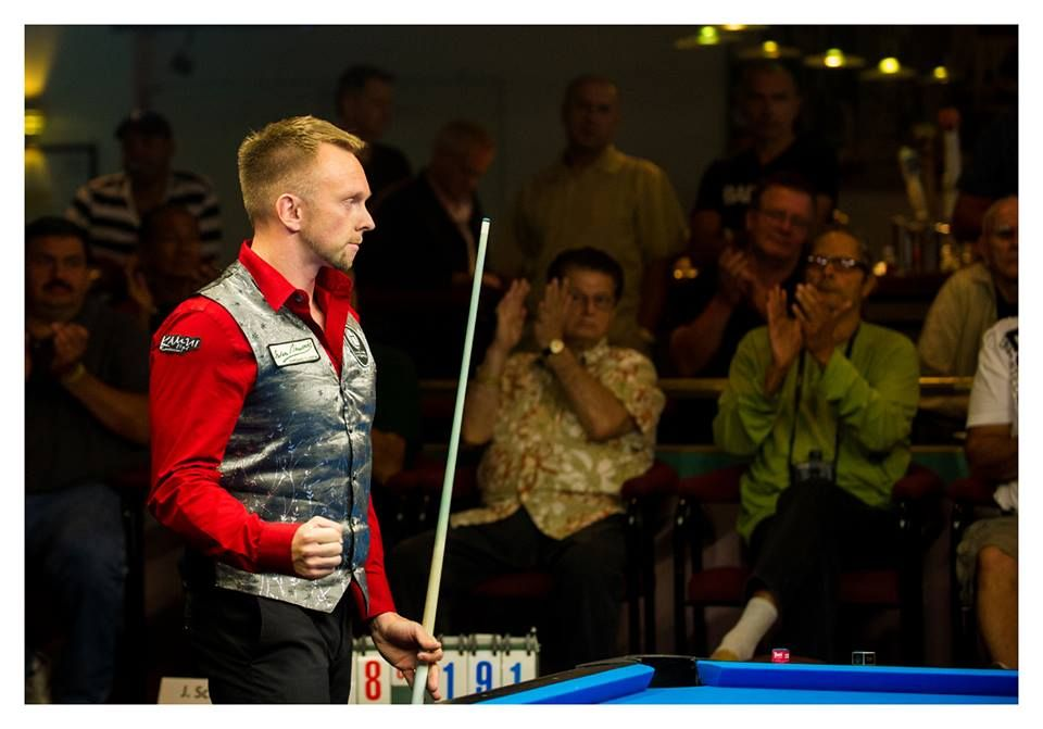 Hohmann Wins Showdown with Reigning Champ Schmidt - http://www.thepoolscene.com/straight-pool-14-1-rotation/hohmann-wins-showdown-reigning-champ-schmidt/