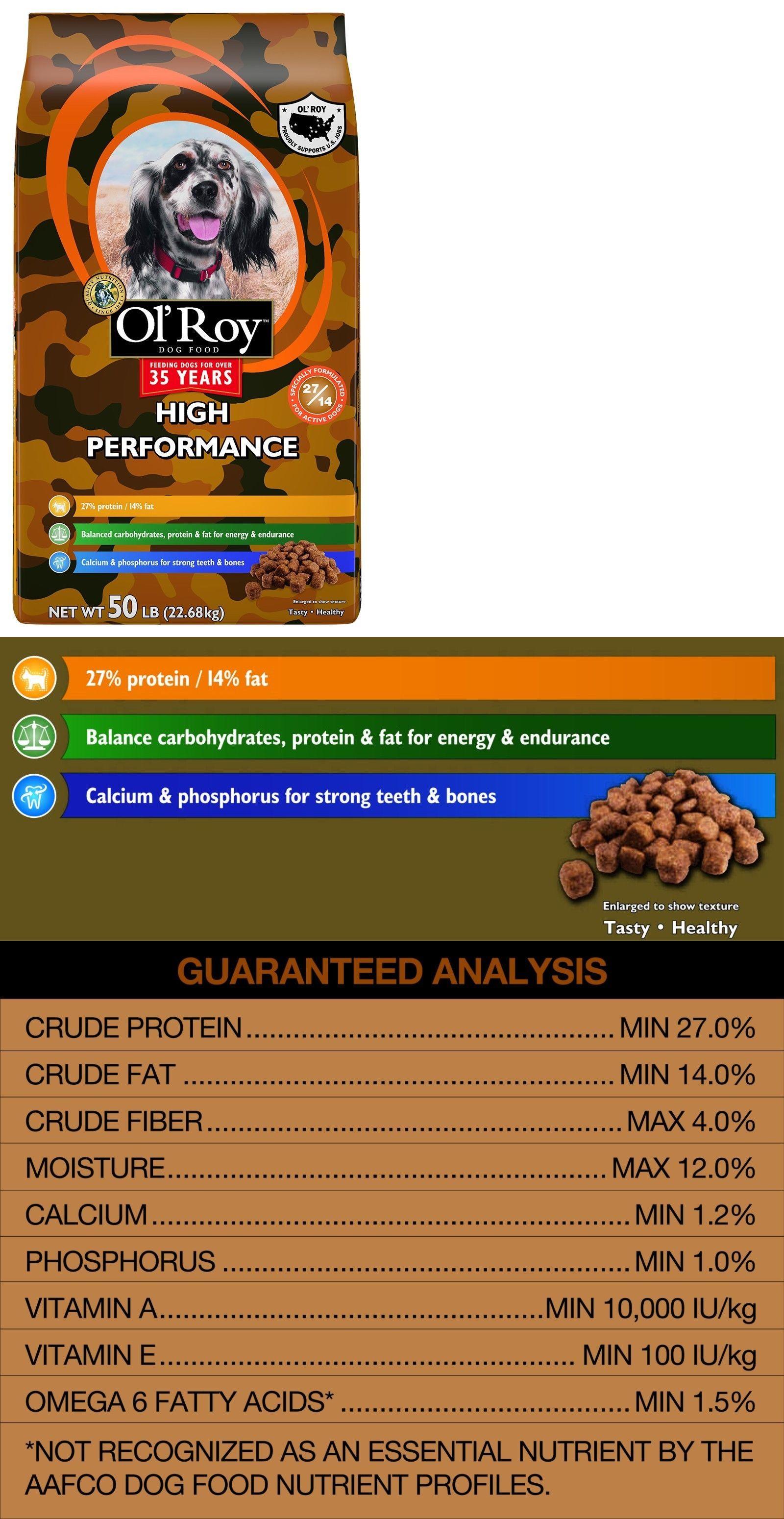 Dog Food 66780 Ol Roy High Performance Dry Dog Food 100 Pound