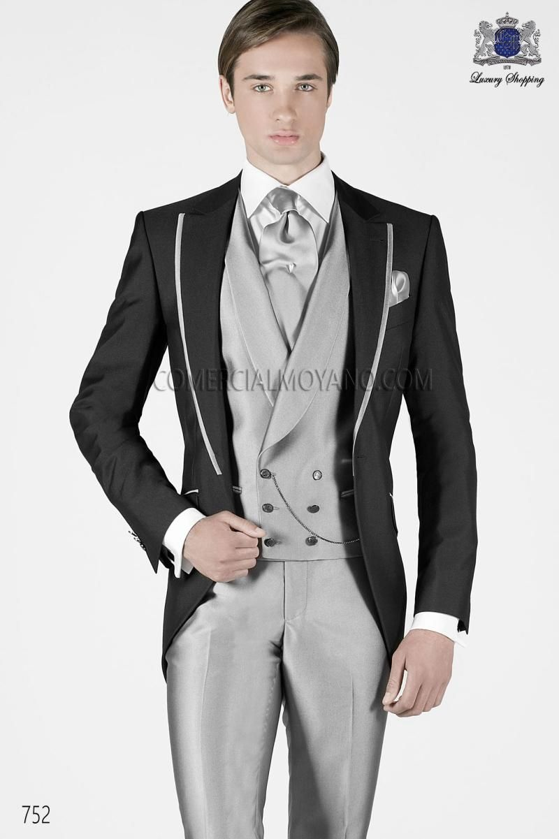 Click to Buy << Classic Style One Button Black Groom Tuxedos ...