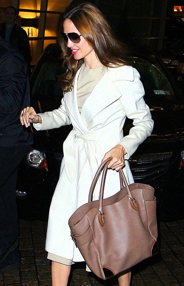 3e69f75b3 The Many Bags of Angelina Jolie - Salvatore Ferragamo Britta Tote ...
