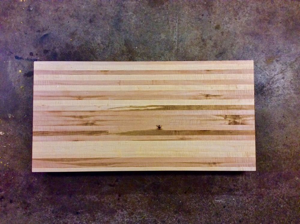 Butcher Block Counter Top Cutting Board Curly Maple 24 X 48