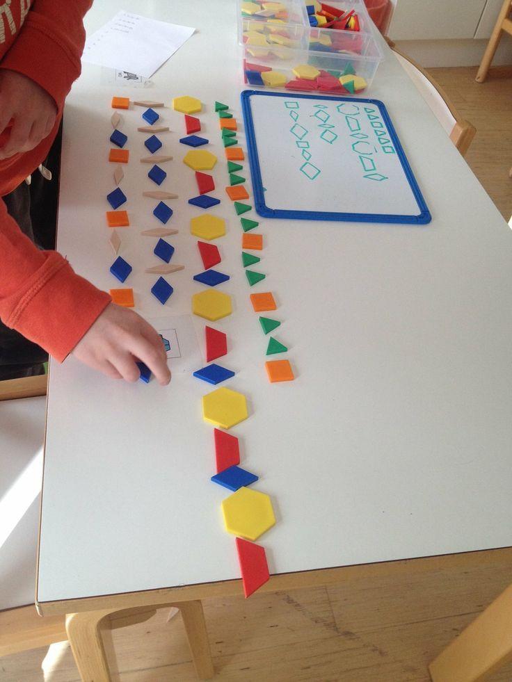 kindergartenerzieherin  geometrie formen kindergarten