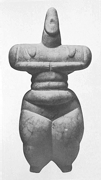 mini-girlz:  Neolithic / Early Cycladic Idol Origin: Cycladic Islands Found: Malta Stone c. 3,000 - 2,000 B.C. via > sandrashaw.com