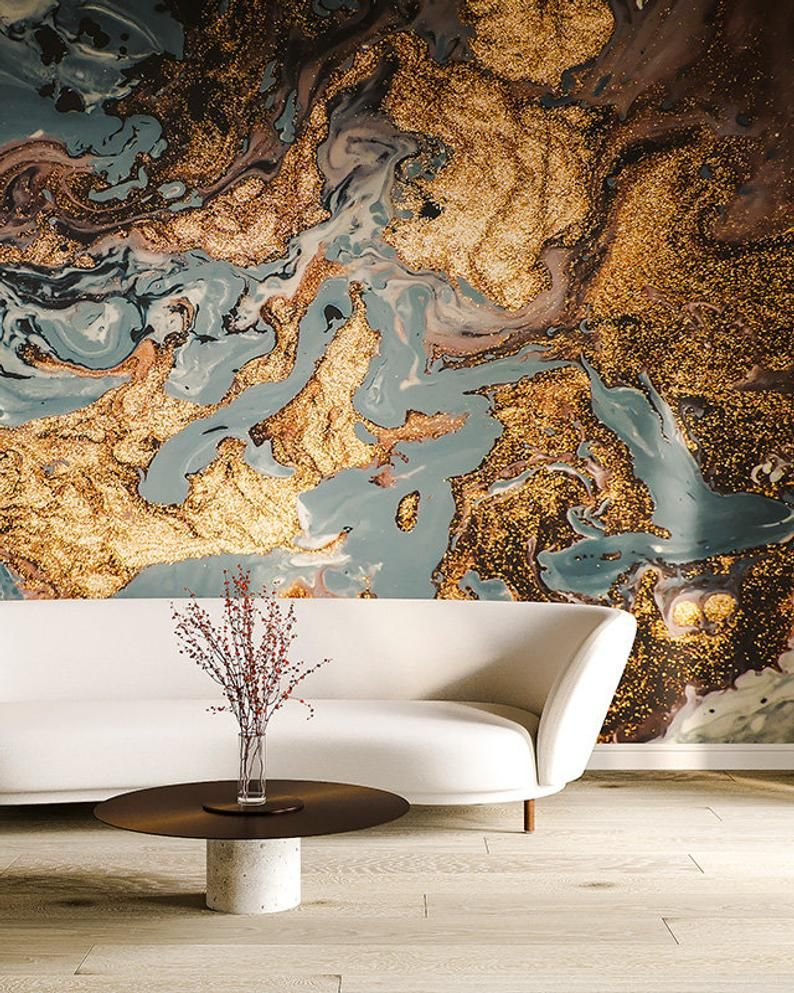 Gold Marble Wallpaper Abstract Peel And Stick Wallpaper Wall Etsy Ideias De Decoracao Decoracao Ideias