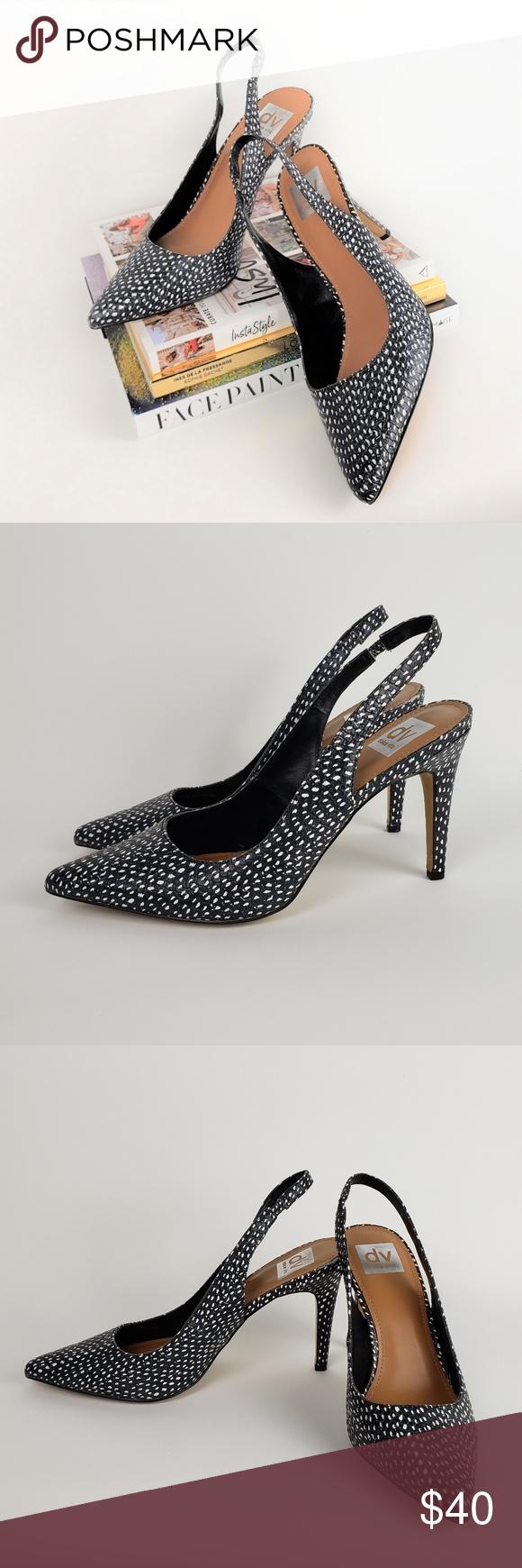 Dolce Vita Black White Slingback Pumps 9 Shoes Women Heels Slingback Pump Dolce Vita Shoes