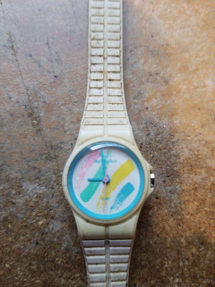 Vintage 80's Timex Watercolors Watch Ladies (not working