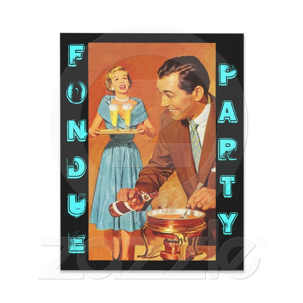 retro fondue party invitations | Life. | Pinterest | Fondue, Fondue ...