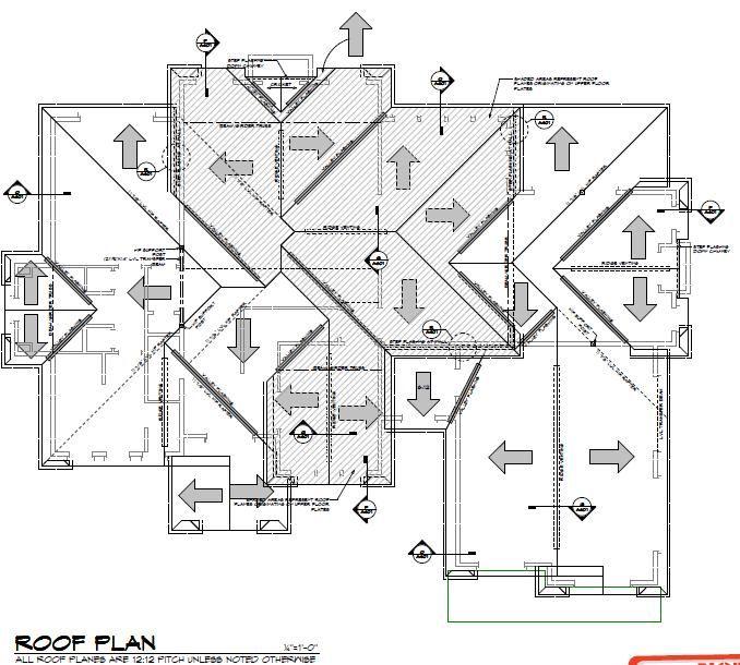 residential roof plan