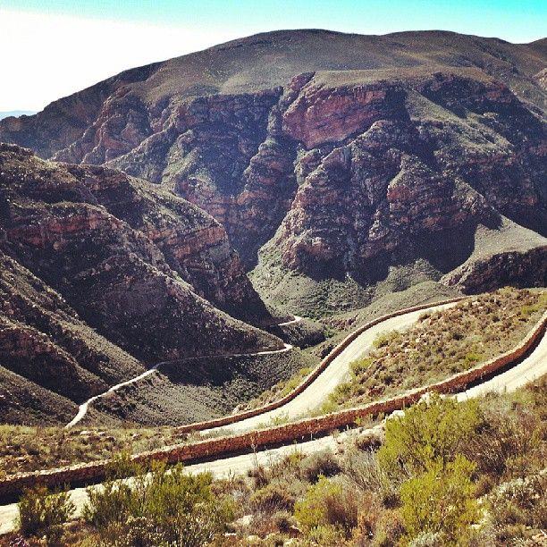 Motorcycle trip- Swartberg Pass through South Africa.
