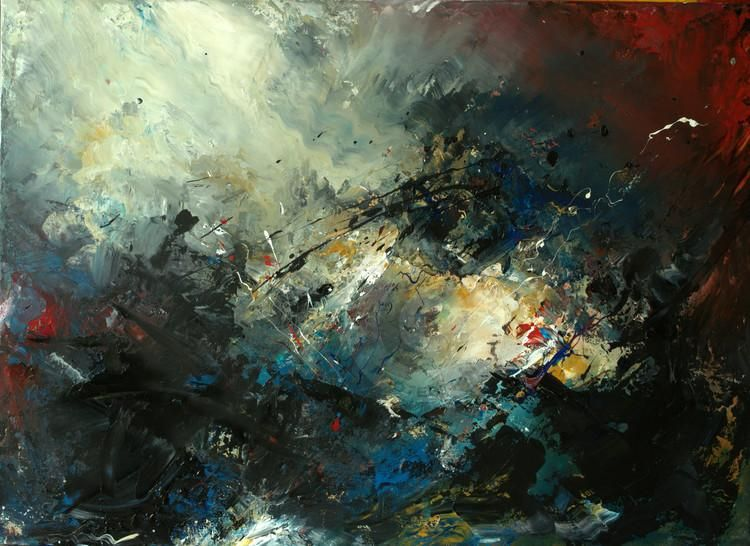 Tempête en mer - Painting, 100x73 cm ©2015 par Roseline Al Oumami