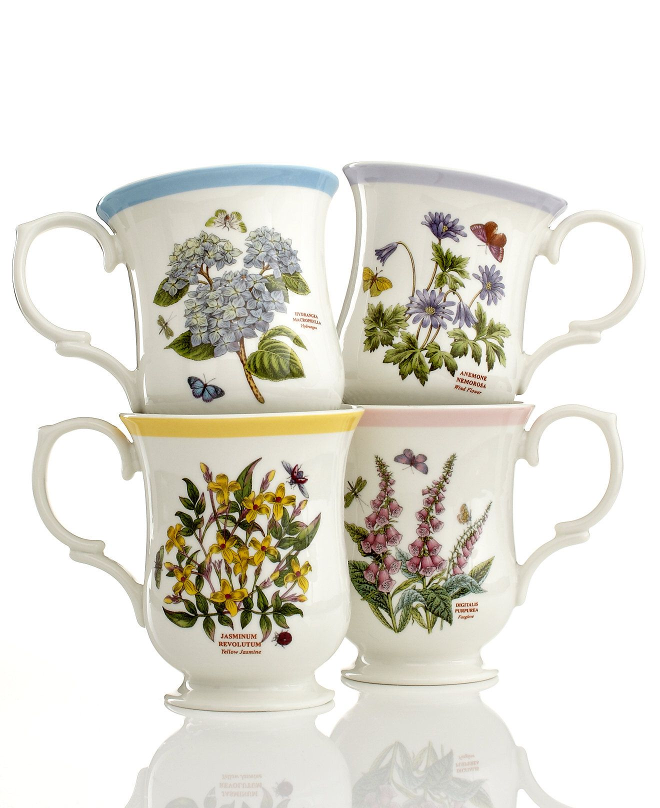 Portmeirion Dinnerware Botanic Garden Terrace Assorted Mugs  sc 1 st  Pinterest & Portmeirion Dinnerware Botanic Garden Terrace Assorted Mugs ...