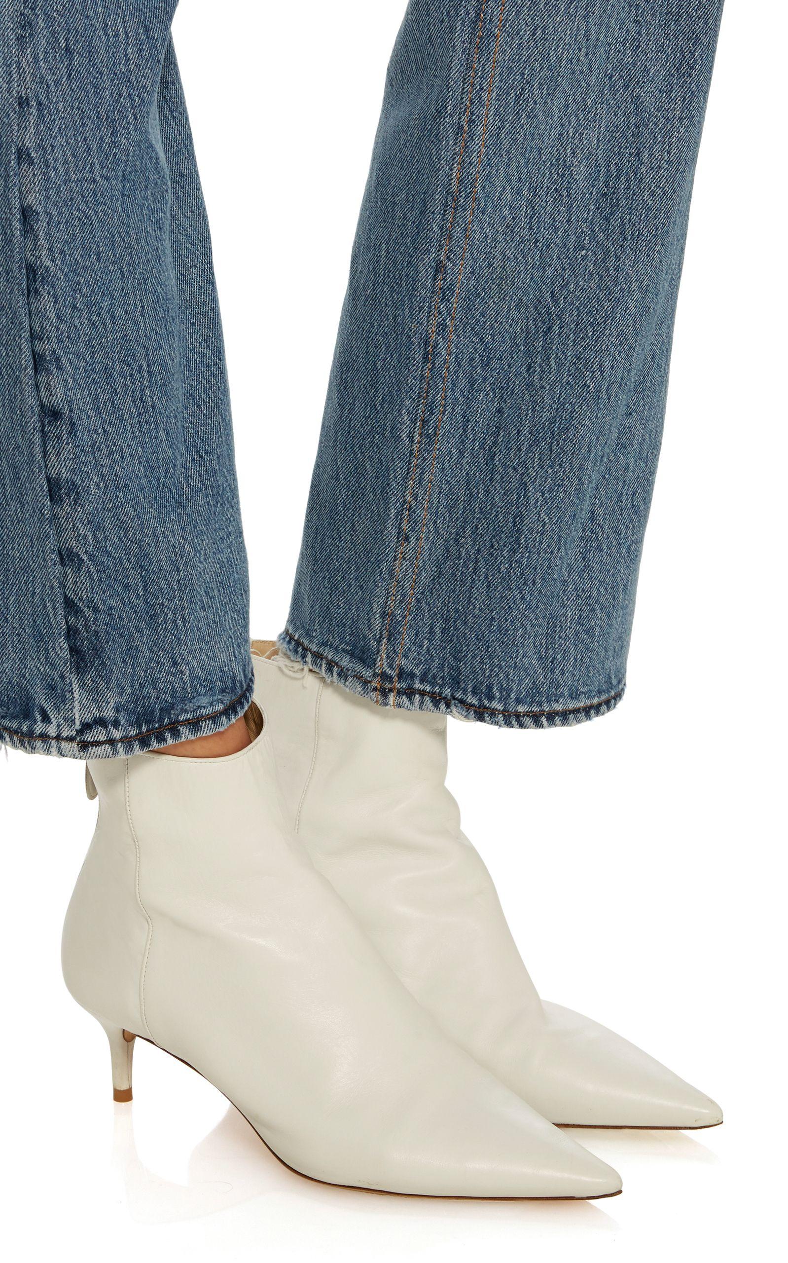 Alexandre Birman Kittie Leather Boots 695 Kitten Heel Boots Boots Bootie Boots