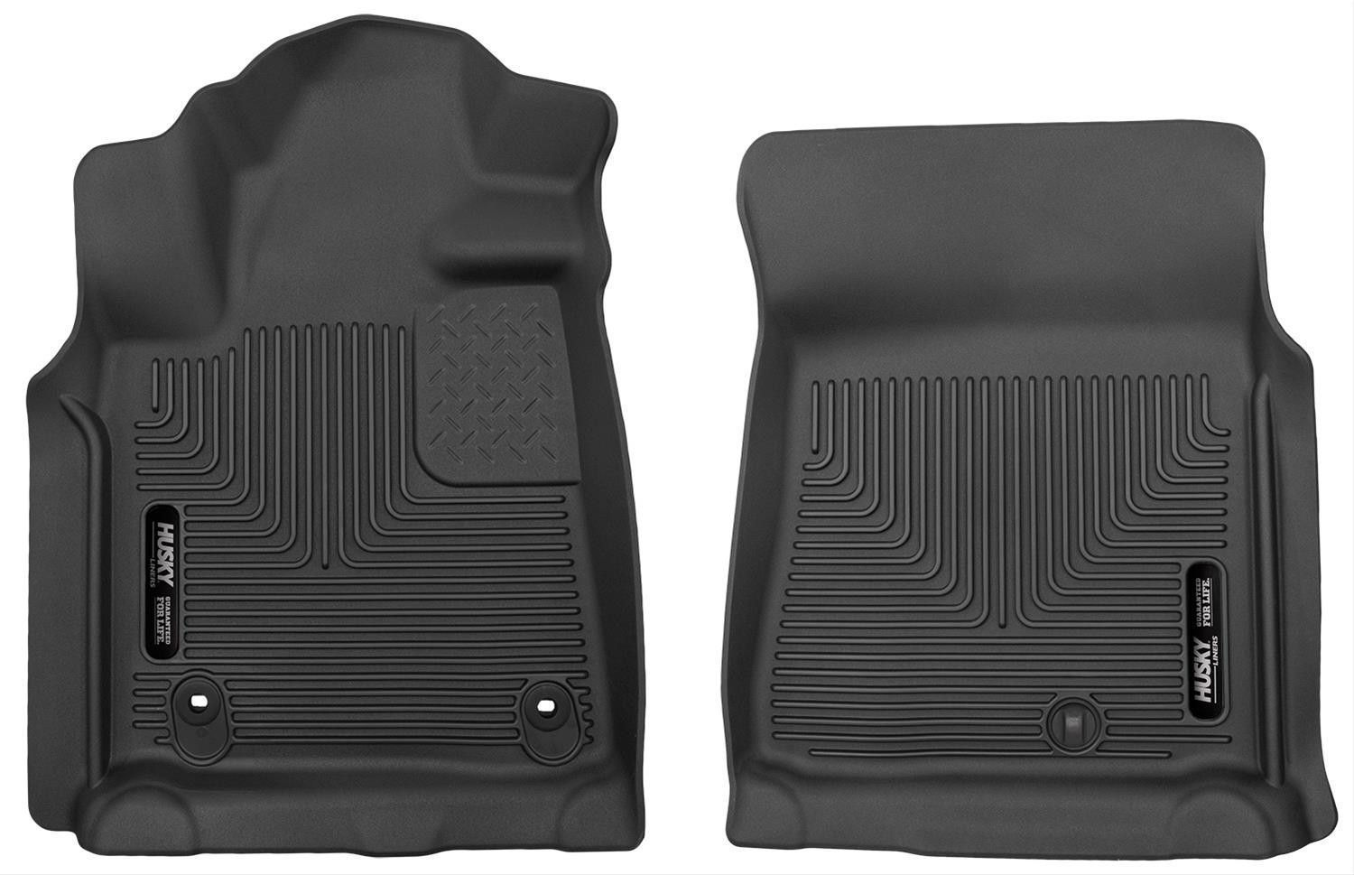 Husky x act contour black rubber front floor mats 2012 2017 toyota tundra
