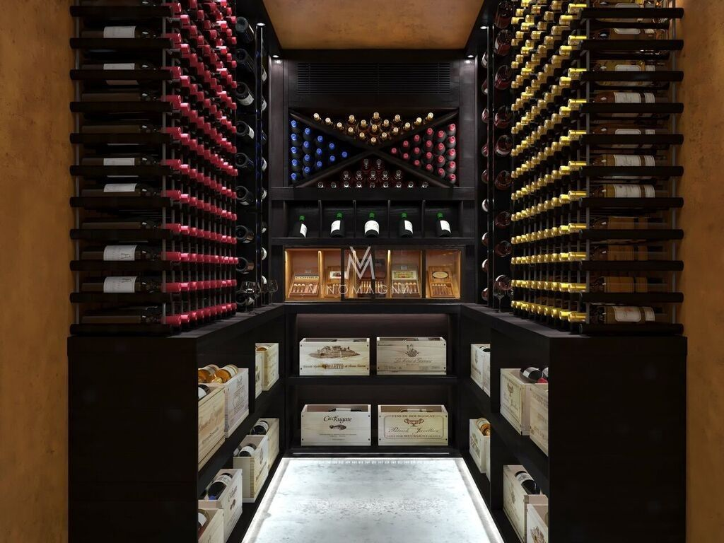 Custom Home Wine Cellar Hybrid Cellar With Integrated