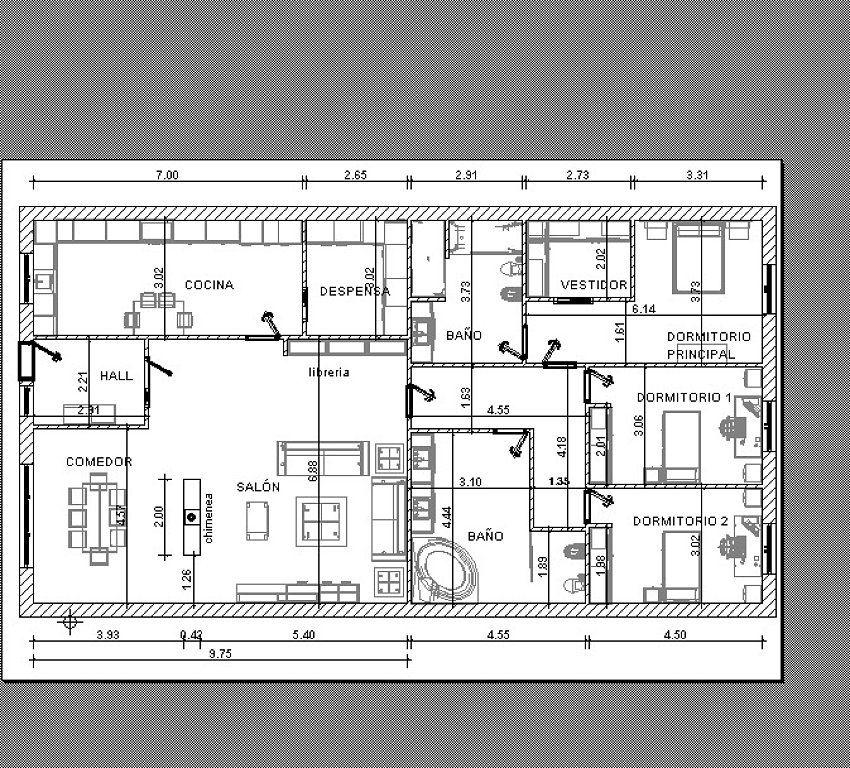 Planos Para Parcela 250 M Decorar Tu Casa Es Facilisimo