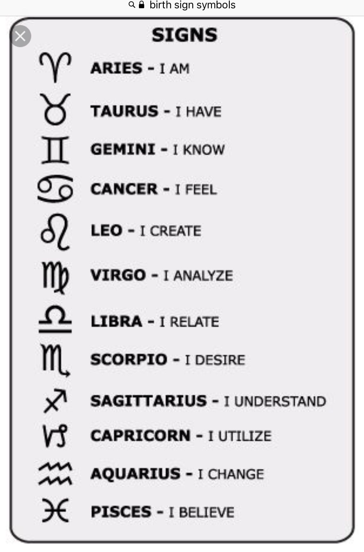 Pin By Ethereal Luna On Humor Astrological Symbols Zodiac Signs Astrology Signs